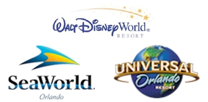 Disney World, Universal Studios and SeaWorld in Orlando FL