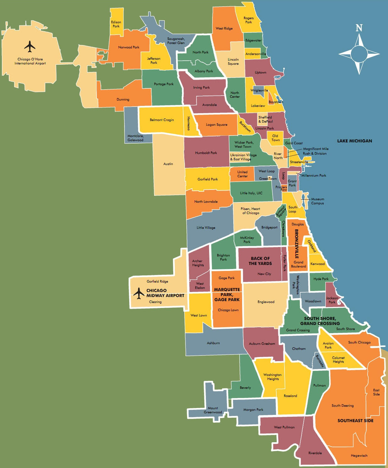 Chicago Il 60613 Mail: Illinois Neighborhood Map