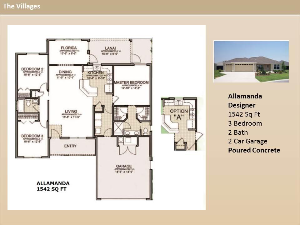 The Villages Designer Homes on Floor Plans Villages Florida