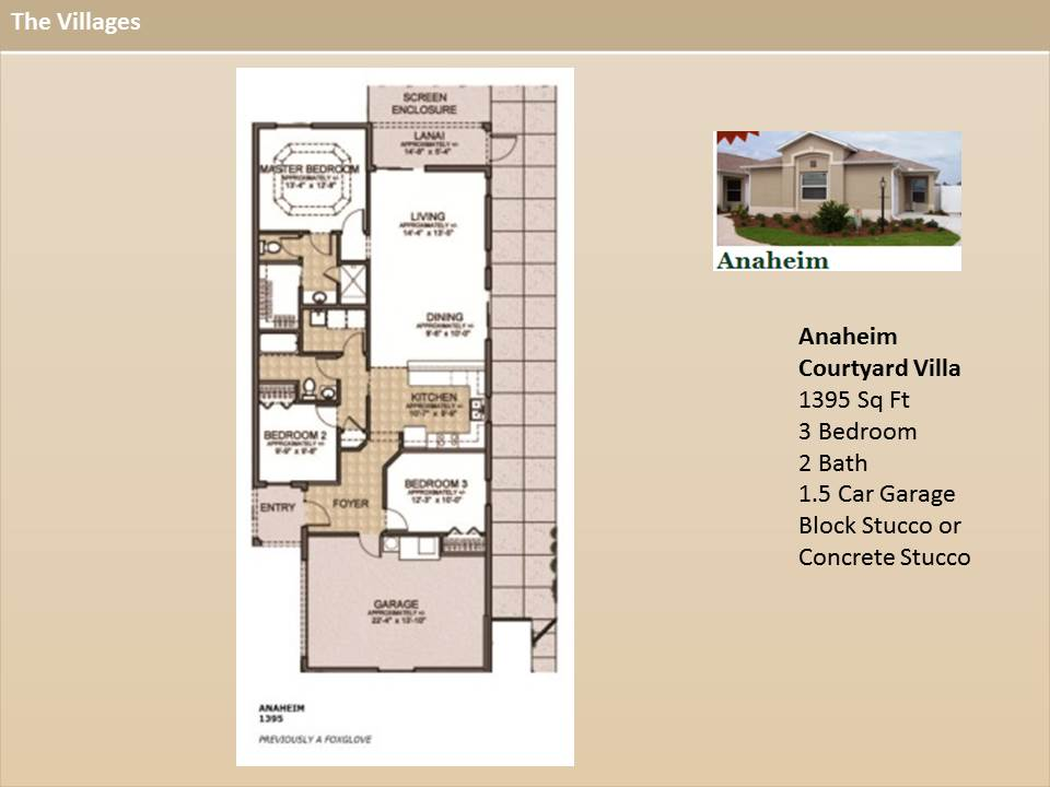 The Villages Homes Courtyard Villas Anaheim Model