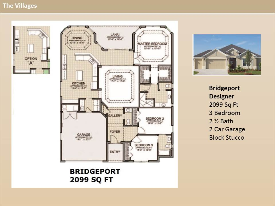 Model homes at the villages