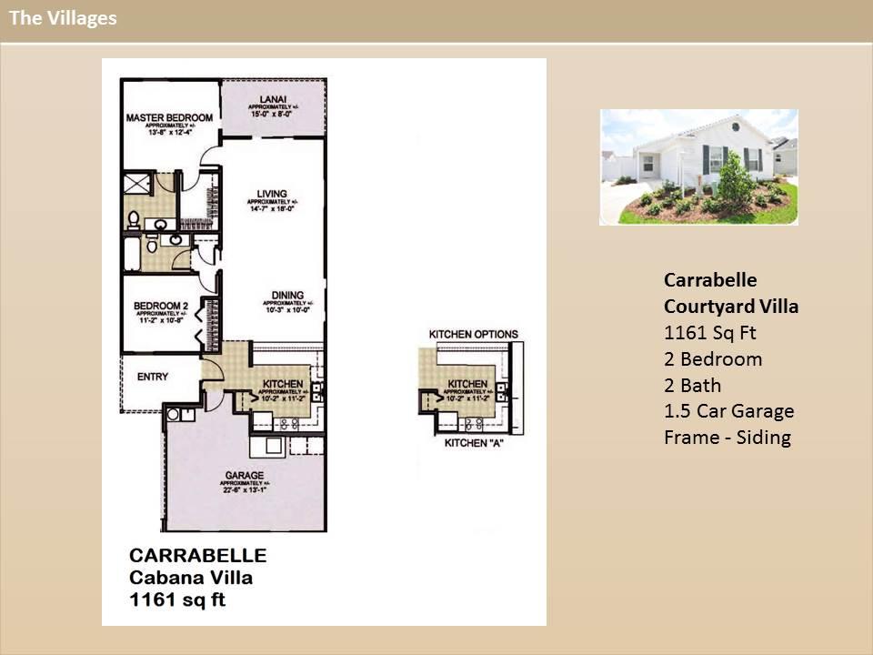 The villages homes courtyard villas carabelle model for Floor plans villages florida