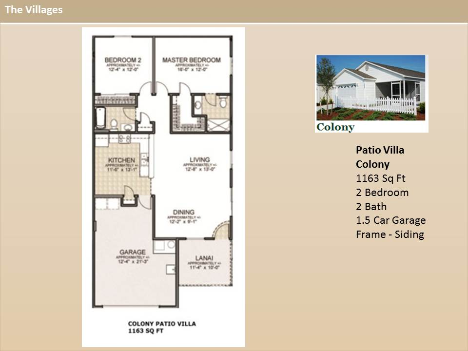The Villages Floor Plans The Villages Homes Patio Villas