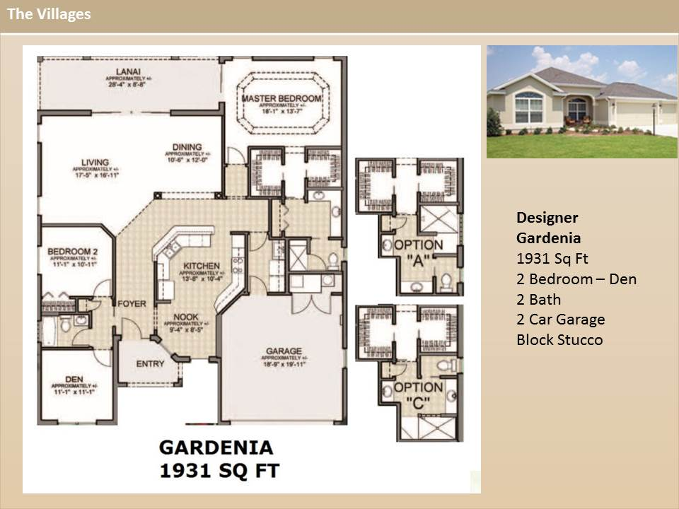 The villages homes designer homes gardenia model for Gardenia home