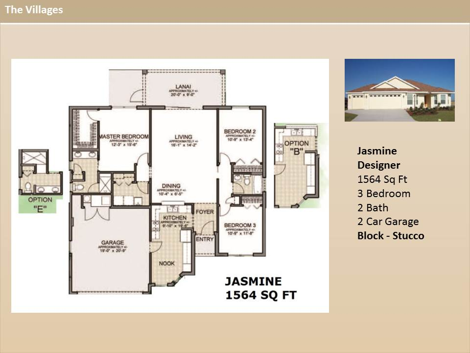 Jasmine on The Villages Fl Home Floor Plans