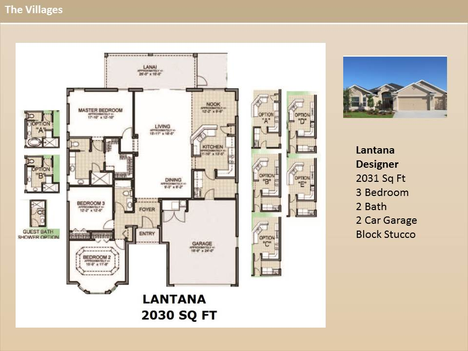 The villages homes designer homes lantana model for Designer homes com