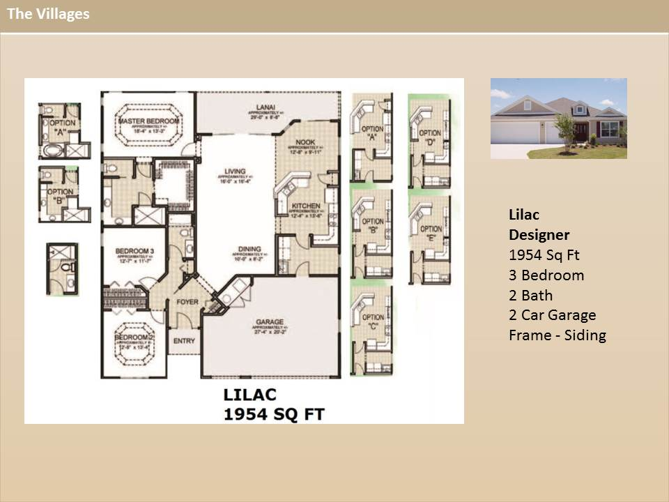 Lilac on The Villages Fl Home Floor Plans