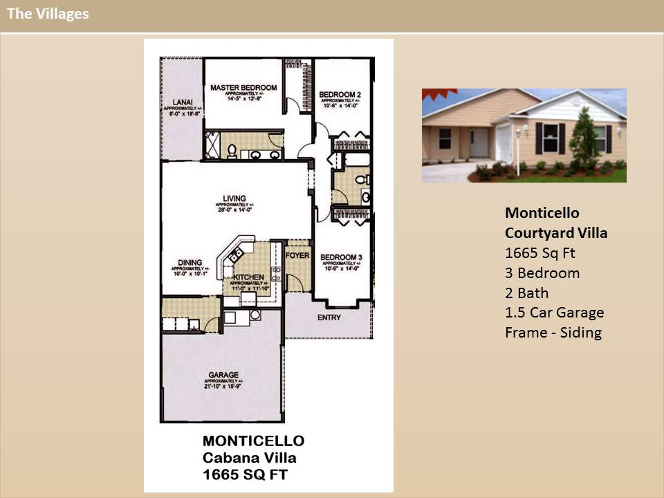 The Villages Floor Plans The Villages Homes Courtyard