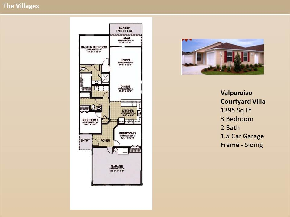 The villages homes courtyard villas valparaiso model for The villages house plans