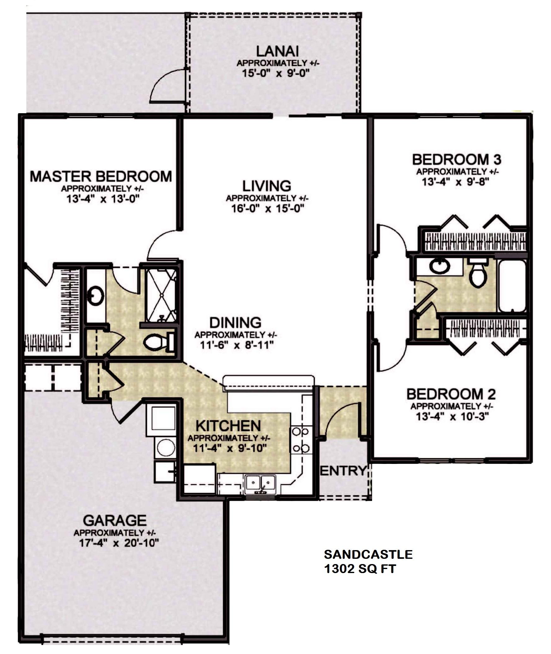 The villages home floor plans 28 images cedar for The villages gardenia floor plan