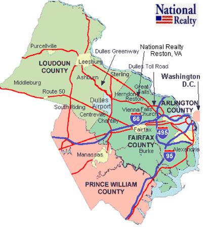 Cities In Northern VA Fairfax Arlington - Va map with cities