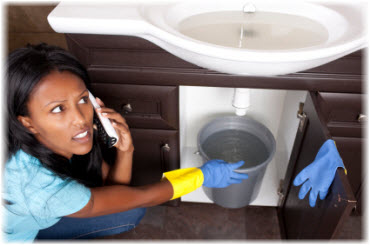 Leak under the sink call the orlando property manager