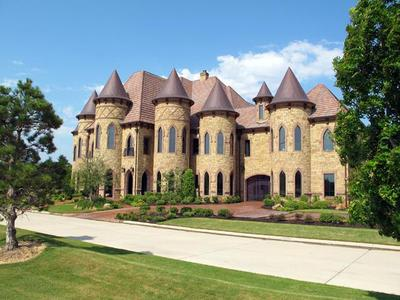 Mansion that looks like a castle in Southlake