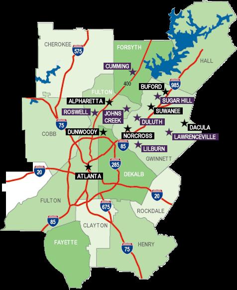 Metro Atlanta Communities Map Of Atlanta S Best Communities