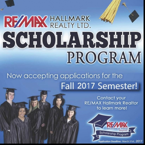 Apply for a REMAX Hallmark Scholarship