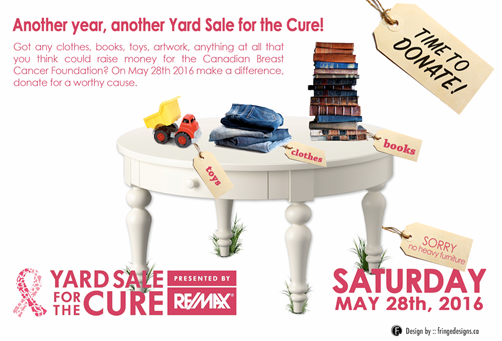 Yard Sale for the Cure 2016, Toronto