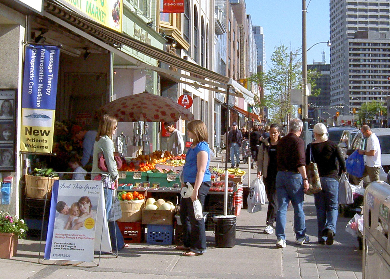 Yonge Street fruit seller
