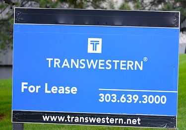 Image of Transwestern For Lease Sign