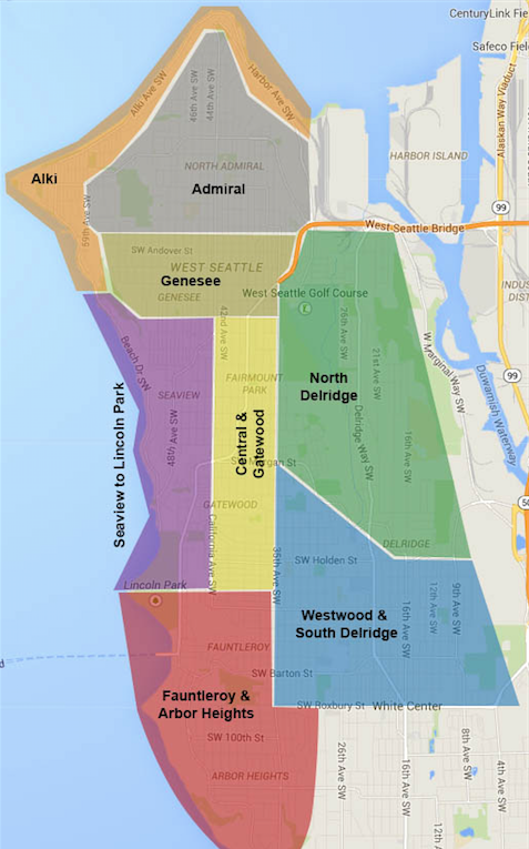 Alki Beach Seattle Map.Community Demographic And Lifestyle Information For West Seattle