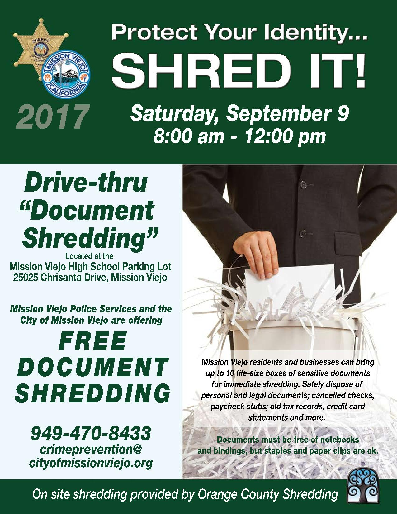 Shred Event Mission Viejo